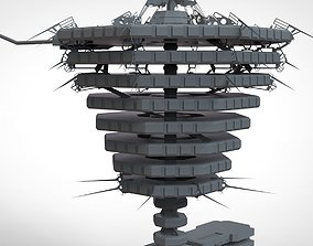 3D model resident evil the hive
