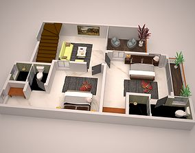 detailed floor plan 3d 3D model