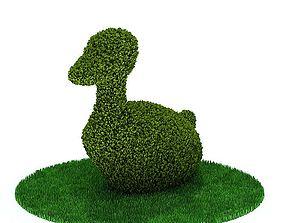 Trimmed Duck Shrub 3D