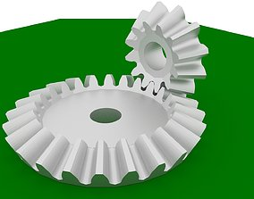 3D printable model engineering Bevel Gears Three pairs