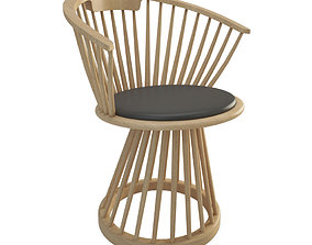 Fan Wooden Chair 3D model