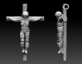 cross and cosmonaut 3D printable model