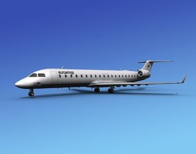 Bombardier CRJ700 Eurowings 3D model