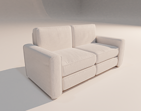 3D asset Two seater sofa pbr