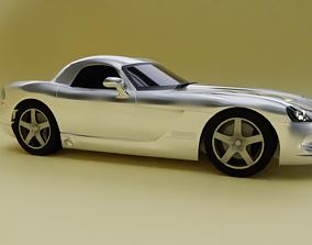 realtime Realistic Low Poly Dodge Viper 2010 SRT-10 3D