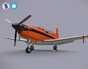 Pilatus PC-7 Mk-I SAFOrange 3D asset