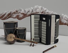 cello Musical instruments 3D models