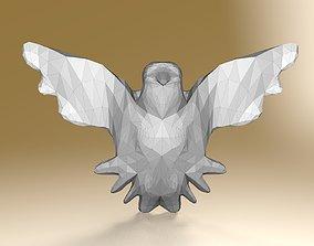 key chain pigeon ultra low poly stl 3D print model