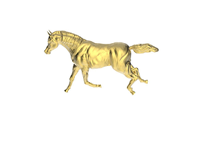 3D print model Arabic Horse in galloping position