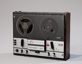 Reel to Reel Recorder 3D asset
