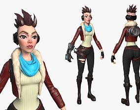 3D model PunkGirl Character