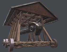 3D asset Medieval battering ram low poly