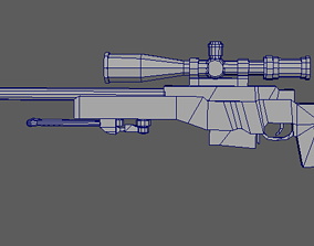 3D asset AWP weapon
