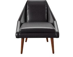 Parker Leather Slipper Chair 3D asset