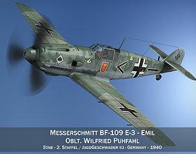 3D Messerschmitt - BF-109 E - JG 53