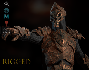 3D asset Skeleton Knight-rigged