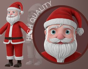 3D man Cartoon Santa Claus NoRig