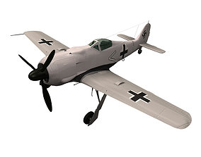 3D model Focke Wulf Fw 190 fighter aircraft