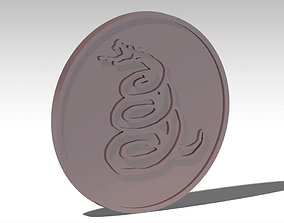 Metallica Snake Coin 3D printable model