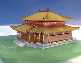 3D Chinese ancient house architectural
