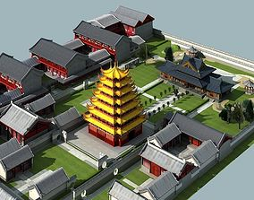 china 3D model The Guanyinge Temple