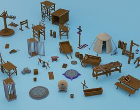Set of 80 pieces 3D asset