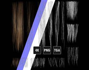 Realistic Hair Textures for Short and Medium 3D model 2