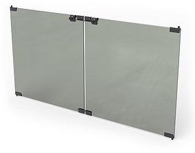 Glass Door Set furniture 3D model