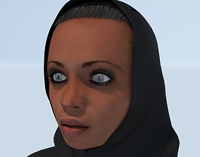 A Young Sinab in Abaya 3D model