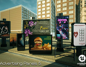 Advertising Panels 5 Unreal Engine 3D asset