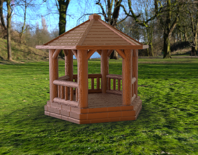 Wooden Gazebo - No supports needed 3D printable model