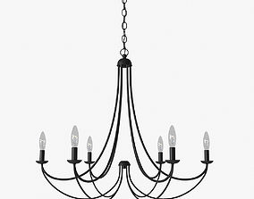 Quoizel Mirren 6-Light Chandelier chandelier 3D