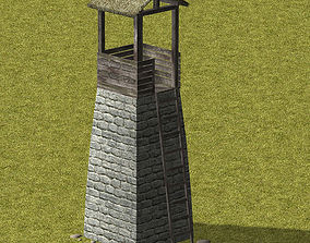 3D asset Guard tower 02 low poly