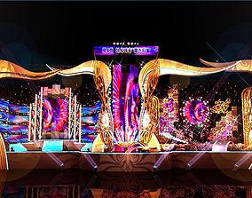 3D model Concert Stage 4