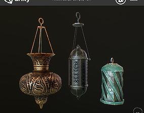 3D asset ancient Lamps low poly PBR