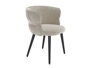 3D POTOCCO COULISSE ARMCHAIR from beige suede