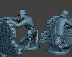 3D printable model German soldier ww2 shoot cover G5