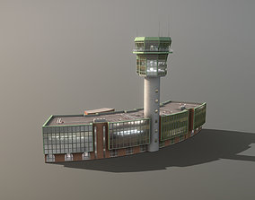 Airport Control Tower LIRN KDP Naples 3D model 1