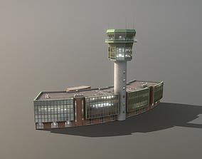 Airport Control Tower LIRN KDP Naples 3D model 1