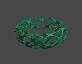 Bracelet style Voronoi green 3D printable model