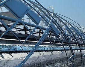 3D Futuristic Suspension Bridge 2 HD