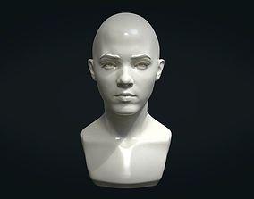 3D print model Young woman head anathomy