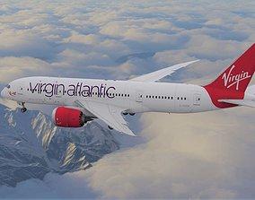 Boeing 787 Dreamliner Virgin Atlantic aircraft 3D