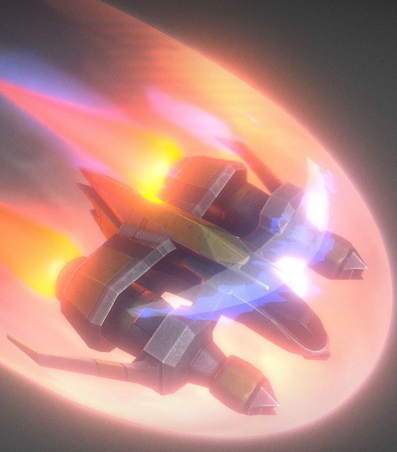 Star Fighter Spacecraft with Shield
