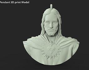 Jesus christ vol3 Base relief pendant 3D printable model