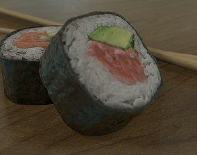 3D model Sushi Rolls and Chopsticks