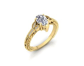 3D printable model Solitaire Ring 19