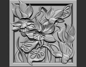 3D print model frame Flowers