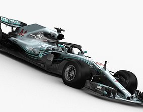 F1 Mercedes W09 2018 3D model