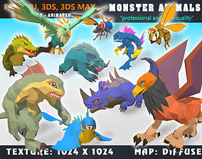 Low Poly Monster Cartoon Collection 06 Animated 3D asset 2